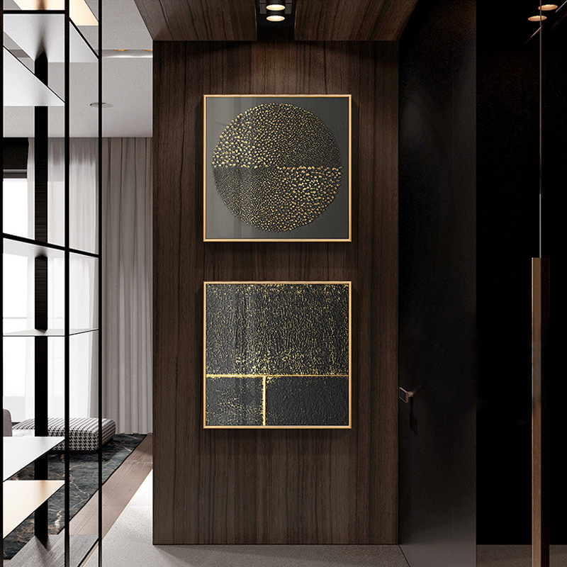 HTB1ZK0OcliE3KVjSZFMq6zQhVXaa Abstract Gold Black White Modern Square Texture Canvas Painting Posters And Prints Home Decor Wall Art Pictures For Living Room