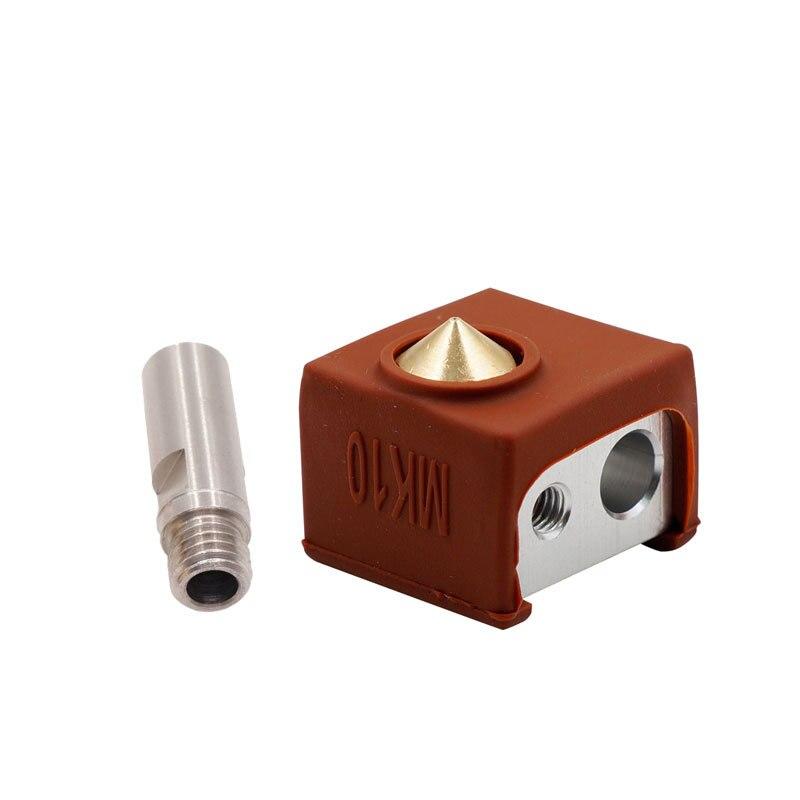 MK10 Extruder Hotend Kit Beheizte Block Düse Gewinde Heatbreak Kehle Silikon Abdeckung 3D Drucker Teile 8 SL @ 88