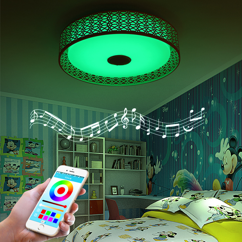 Modern Bluetooth Speaker LED Ceiling Light Remote Control RGB LED Music Lamp Dimmable Living Room Lighting lamp Smart APP - 4