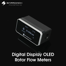 Barrowch FBFT03 V2 Digital Display OLED Rotor Flow Meters Multiple Colour Aluminum Alloy Panel + POM Body Real time detection