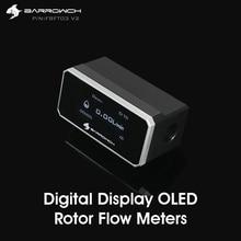 Barrowch FBFT03 V2 Digitale Display Oled Rotor Flow Meter Meerdere Kleur Aluminium Paneel + Pom Body Real Time Detectie