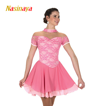 Nasinaya Figure Skating Dress Customized Competition Ice Skating Skirt for Girl Women Kids Patinaje Gymnastics Performance 281