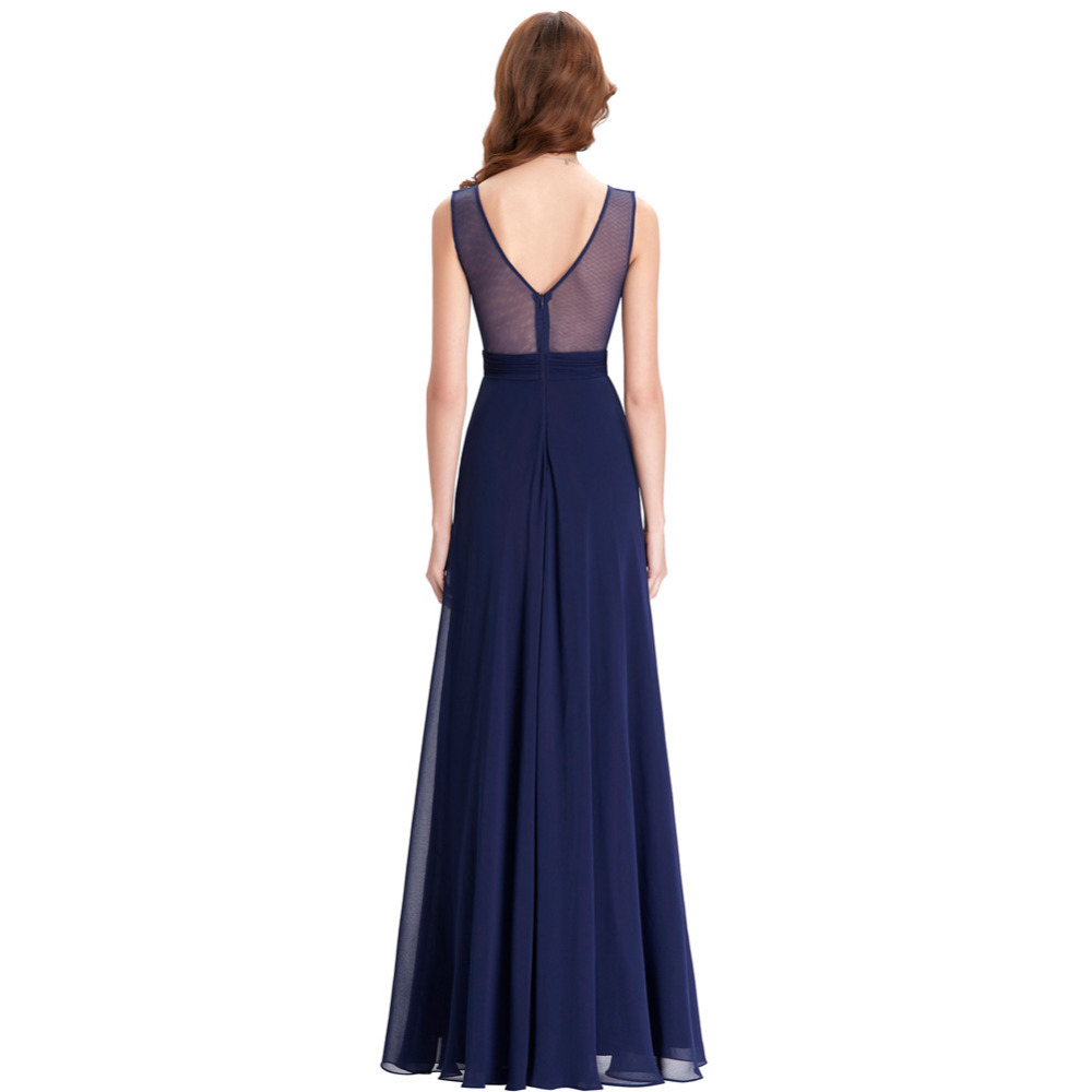 Kate Kasin Long Bridesmaid Dresses 2017 Navy Blue Wedding Party Sexy ...