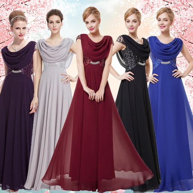 Party Dresses Ever Pretty EP09989 Chiffon V neck Elegant Fashion ...