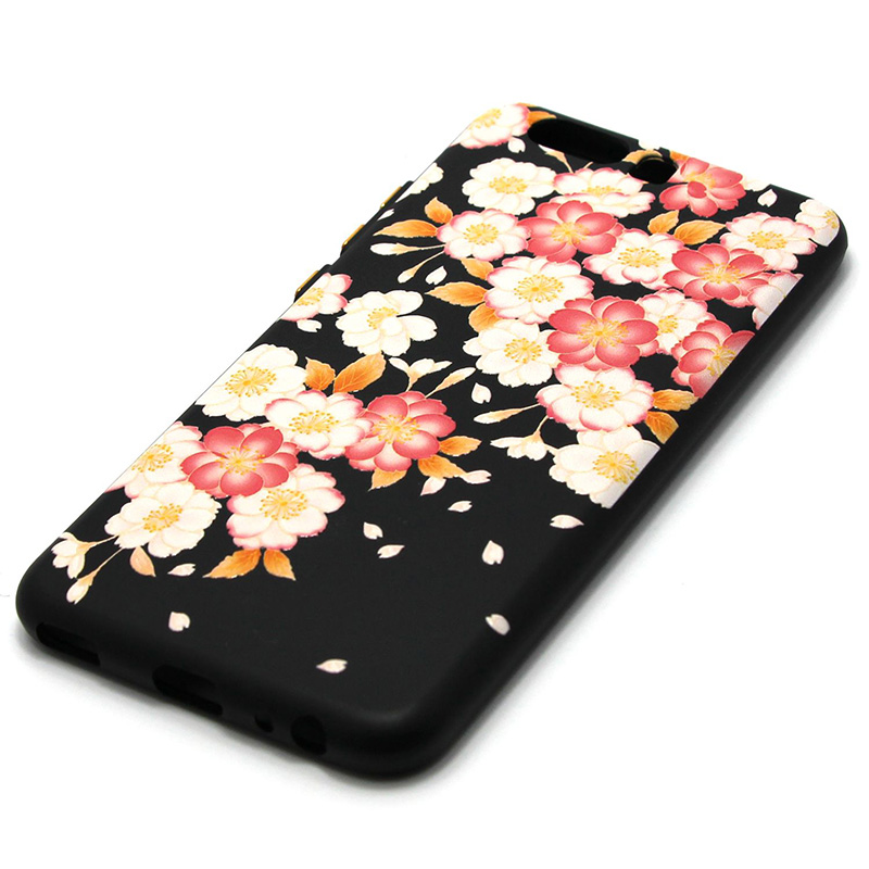 3D Relief flower silicone  case huawei p10 (22)