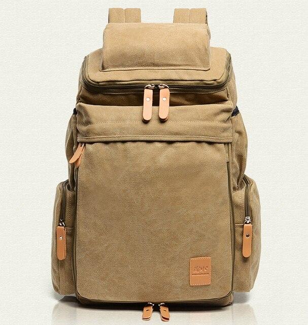Fashion Rucksack Men S Canvas Backpack Leisure Travel Bag Backpack