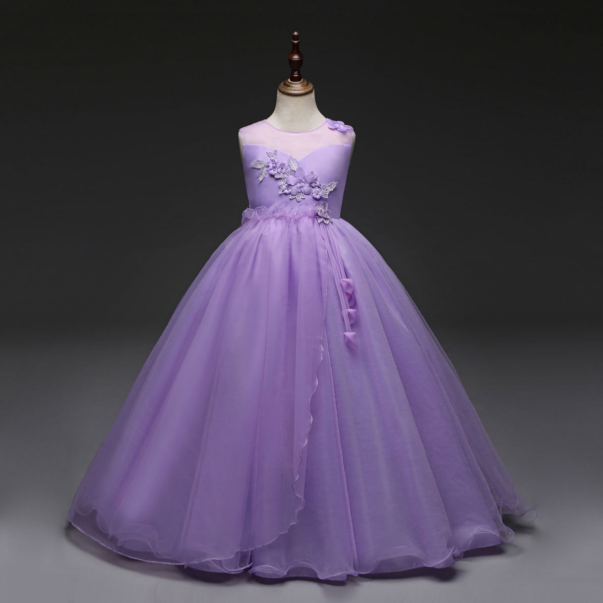 93cd189774a6d European Style Graduation Gowns Children Special Occasion Prom ...