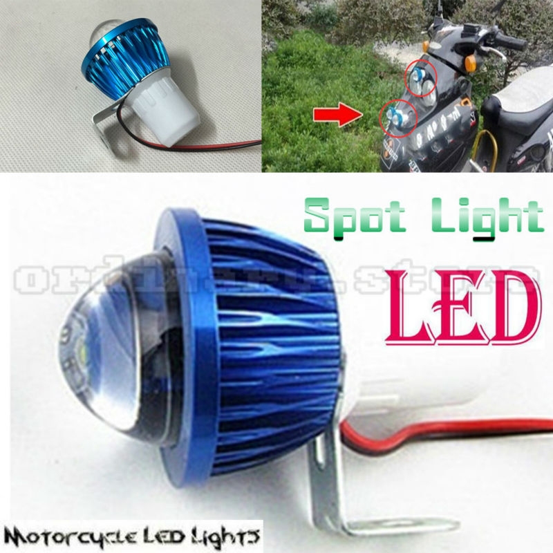 6W Fisheye Lens LED Motorcycle Headlight Work Head Light Driving Fog Spot Night Lamp Universal For All Electric Moto Bike