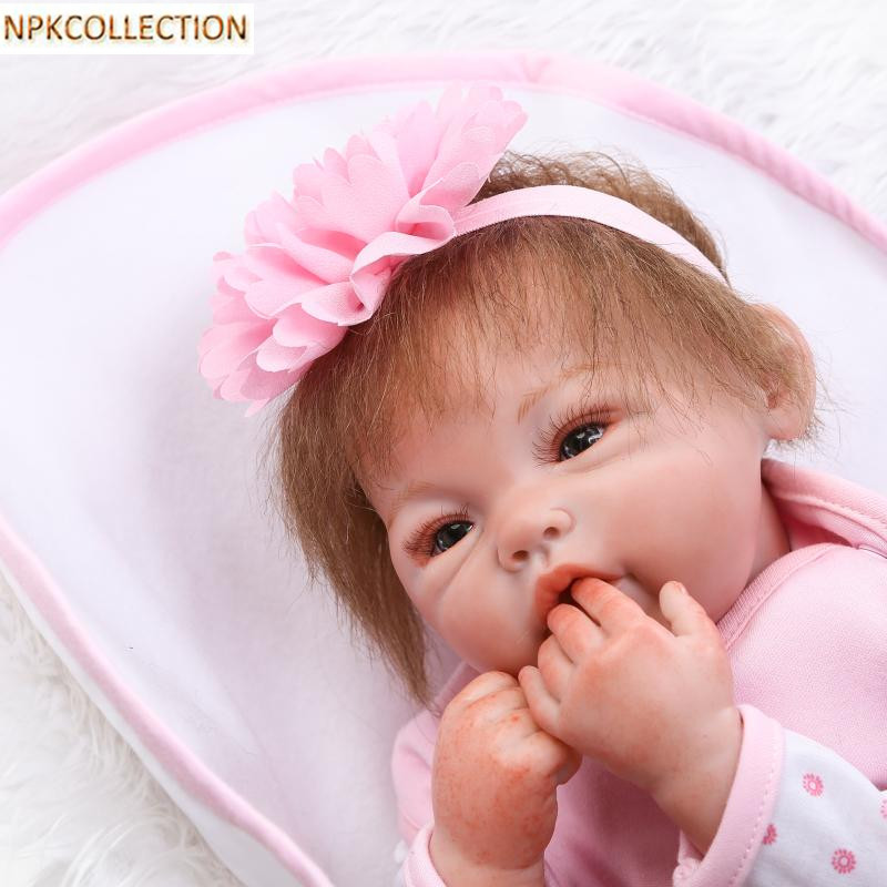 NPKCOLLECTION Real Dolls 45 CM Soft Silicone Reborn Dolls Baby Realistic Doll Reborn 18 Inch Silicone Dolls Babies Bonecas Toys npkcollection 50 cm real dolls baby alive bonecas realistic silicone reborn dolls soft toy for girls birthday xmas gift juguete