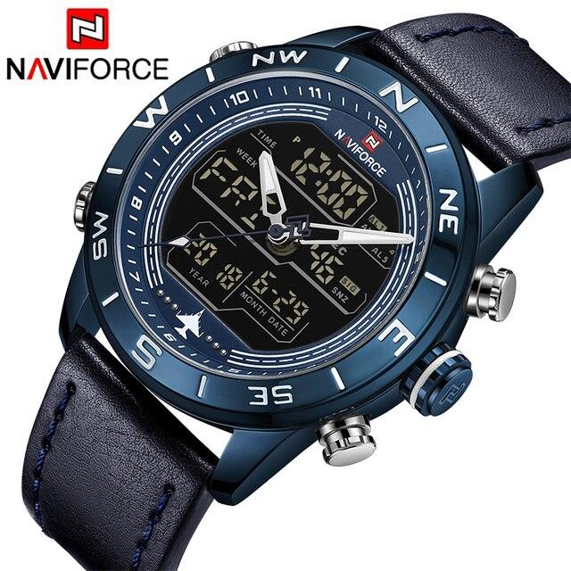 970a6ef02ddc Relojes hombres NAVIFORCE de la marca de lujo de los hombres de moda de  deporte reloj