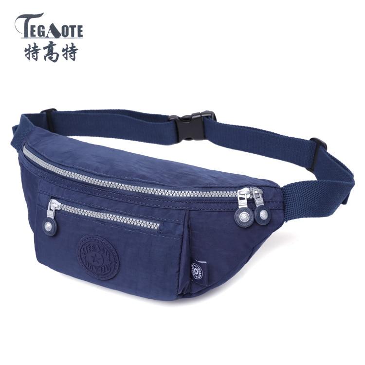 TEGAOTE 2018 Molle Waist Bags Waterproof Men Belt Bag Bolsa Casual Waist Pack Nylon Work Waist Bag Small Bags 1536