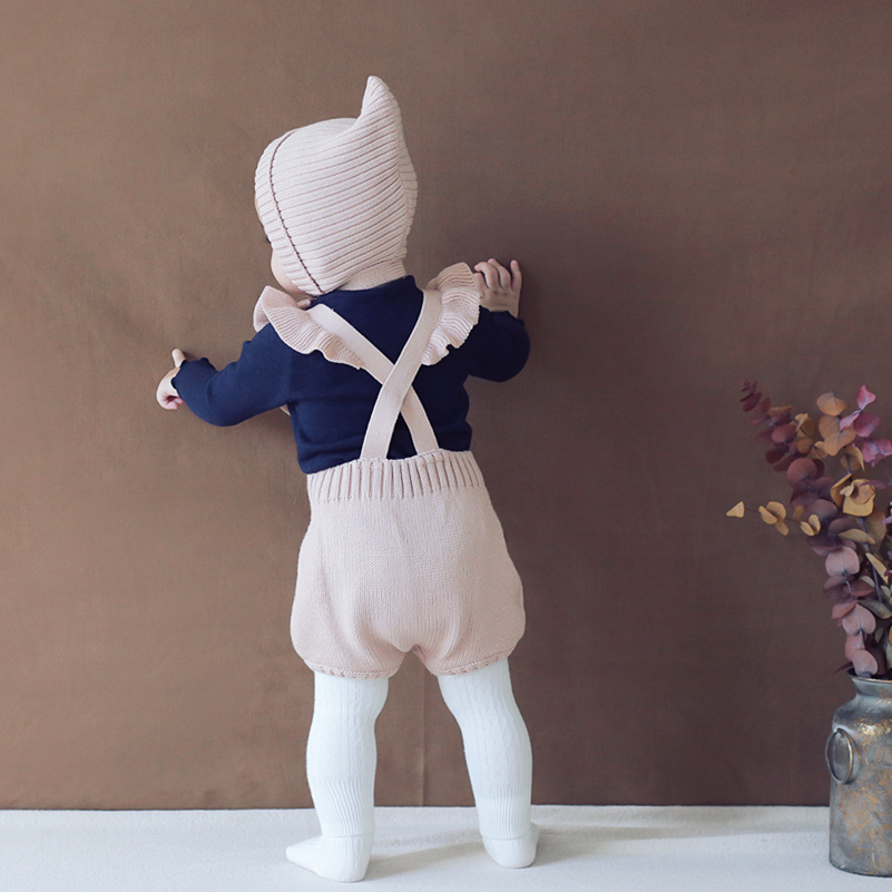 Celveroso new Ruffle design Baby Knitting Rompers Cute Overalls Newborn Baby Boys Cloth Infantil Baby Girl Boy Sleeveless Romper auro mesa blue baby knitting romper 100