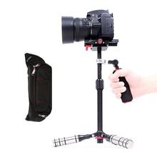 Stabilisateur vidéo professionnel Super léger en Fiber de carbone pour Canon Nikon Sony téléphone DSLR DV caméscope