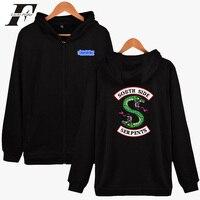 LUCKYFRIDAYF 2018 BTS Riverdale Men Hoodies Sweatshirts With Zipper Winter Autumn Jackets Men Spring South Side