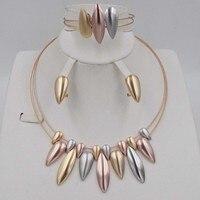 Fashion Dubai Jewelry Set for women Nigerian Wedding African Beads necklace earrings set