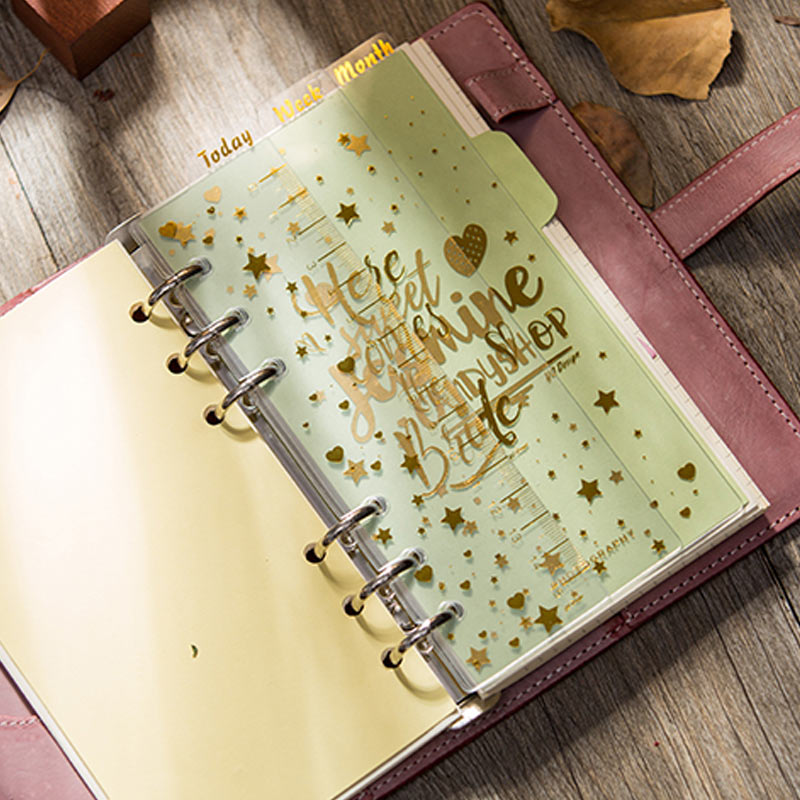 1 Set A5A6 Kawaii Spiral Notebook Divider Cute Fine Organizer Happy Planner Separator Pages Office School Stationery Index Paper