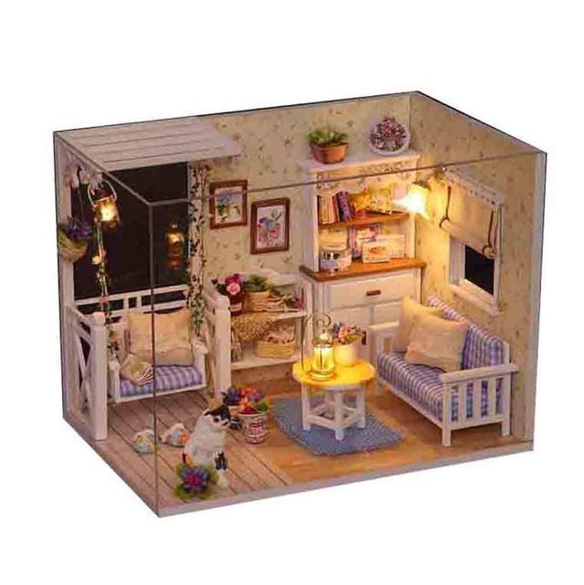 3D Wooden DIY House Furniture Miniature Micro Landscape For Children Toy Birthday Gift Wedding Party Home Garden Decoration