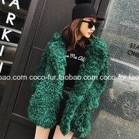 Chic Fleece Blazer Shaggy Faux Fur Lapel Hairy Coat Fur Plush Jacket Velvet Long Cardigan Lamb Outwear Trench Tops 2018