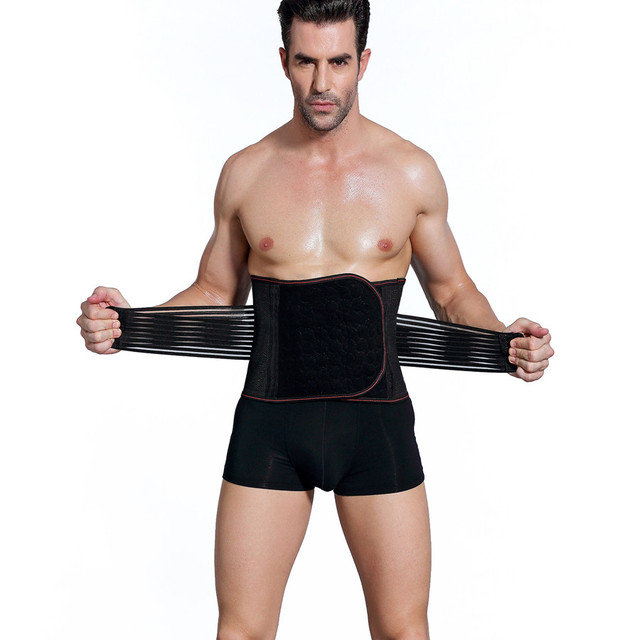 Men Body Shapers Belt Compression Corset Slimming Belts Fitness Girdle Waist Cincher Waist Trimmer Abdomen Fat Burning Tummy