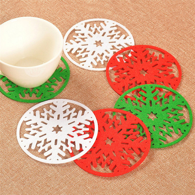 12pcs/lot Christmas Snowflakes Cup Mat Dinner Party Tableware Decoration Bowl Dish Insulation Pads Gifts  sc 1 st  AliExpress.com & 12pcs/lot Christmas Snowflakes Cup Mat Dinner Party Tableware ...
