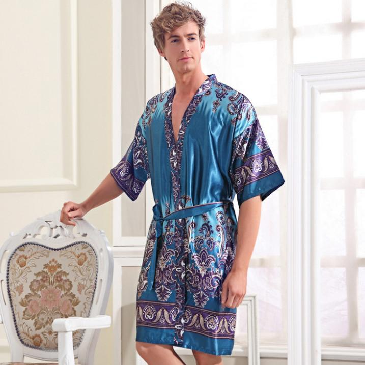 Boys Dressing Gown: Bath Robe Men Cheap Silk Robes Chinese Silk Robes For Men