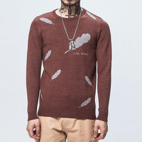 Solid Color Pullover Men O Neck Sweater Men Long Sleeve Shirt Mens Sweaters Wool Casual Dress