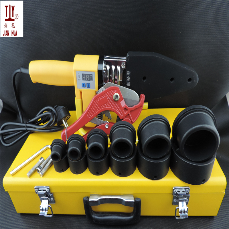 Free Shipping 20-63mm 1000W Microcomputer Digital Display PVC Plastic Pipe Weld Machine Welding Ppr Tube With 42mm Pipe Cutter