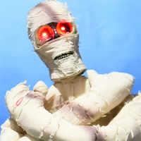 Cadılar bayramı Dekorasyon Ayakta Büyük Mumya Hayalet Beyaz Ürpertici Bez Light Up Korkutucu Gözler Sallamak Vücut Parti Dekor Korku Sahne Bebek