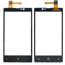 Original Black TOP Quality For Nokia Lumia 820 Front Panel Touch Screen Digitizer Glass Lens Sensor Replacement Free Shipping