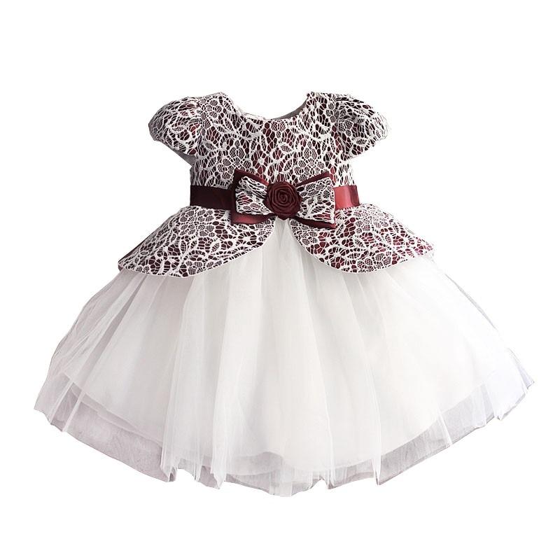 0cd67ca4c1888 Dentelle fleur fille robe TUTU style soie ceinture princesse enfants robes  3 couleurs léopard filles robe