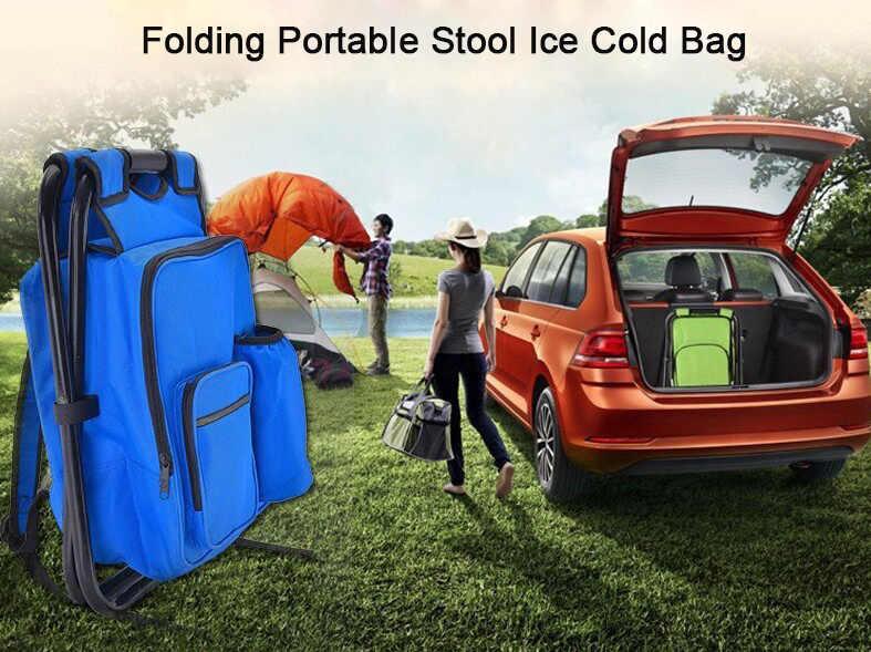 Складные столы и стулья для переносной стул ледяной мешок Рыбалка Рюкзак хранения рюкзак-ХОЛОДИЛЬНИК И стул для отдыха и путешествий Пеший Туризм Кемпинг пляж пикник