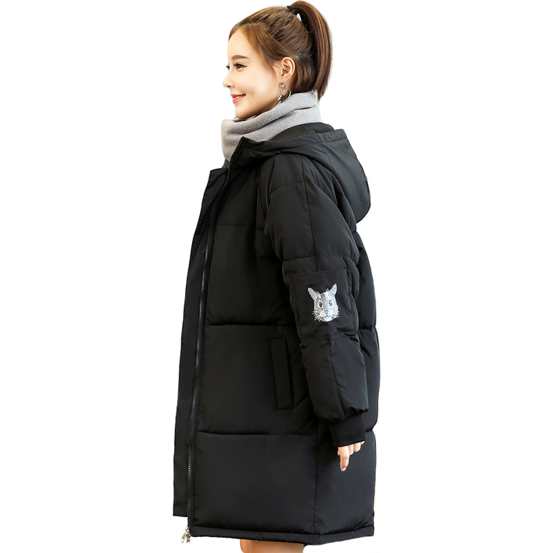 2019 Korean Style Winter Women Down Jacket Hooded Long Padded Female Warm Coat Parka Mujer Invierno