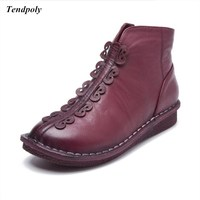 Autumn And Winter New Short Women S Boots Soft Bottom Fashion Leather Shoes Size 35 38