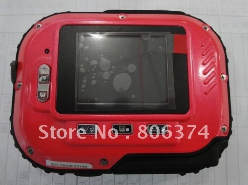 """Free shipping&Rock Bottom price-Red color-New Fashionm waterproof 1.5"""" 3.1 Million Digital Camera"""