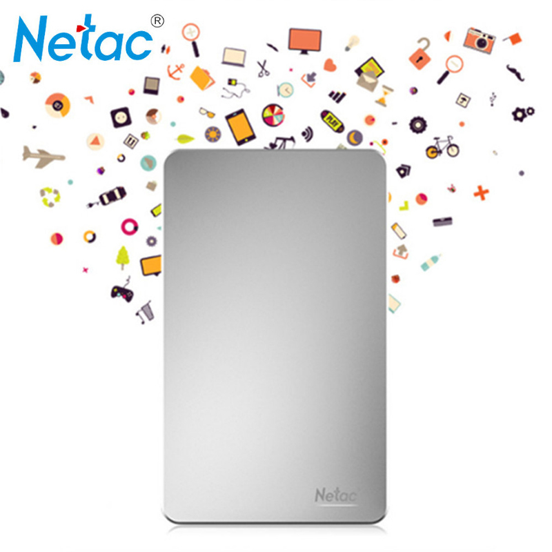 ФОТО Netac K330 USB3.0 Metal 500GB 1TB 2TB HDD Housing HD Hard Disk Storage Devices With retail packaging External Hard Drive Disk