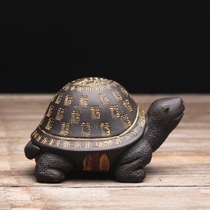Image 2 - Creative purple clay tea Pet Tortoise yixing zisha teapot lid holder for teatray teaboard tearoom Decoration Handcrafts