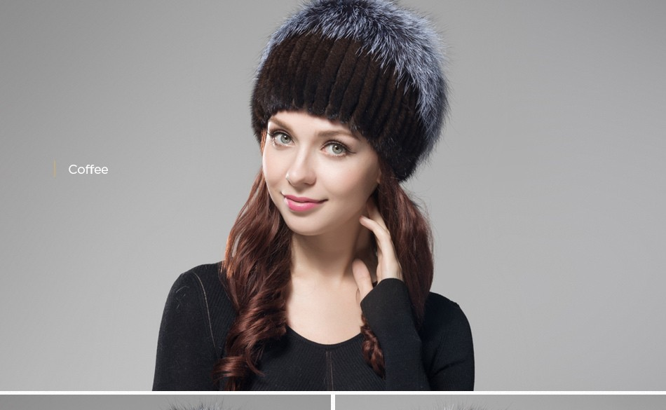 fur woman winter hats PCM012 (20)