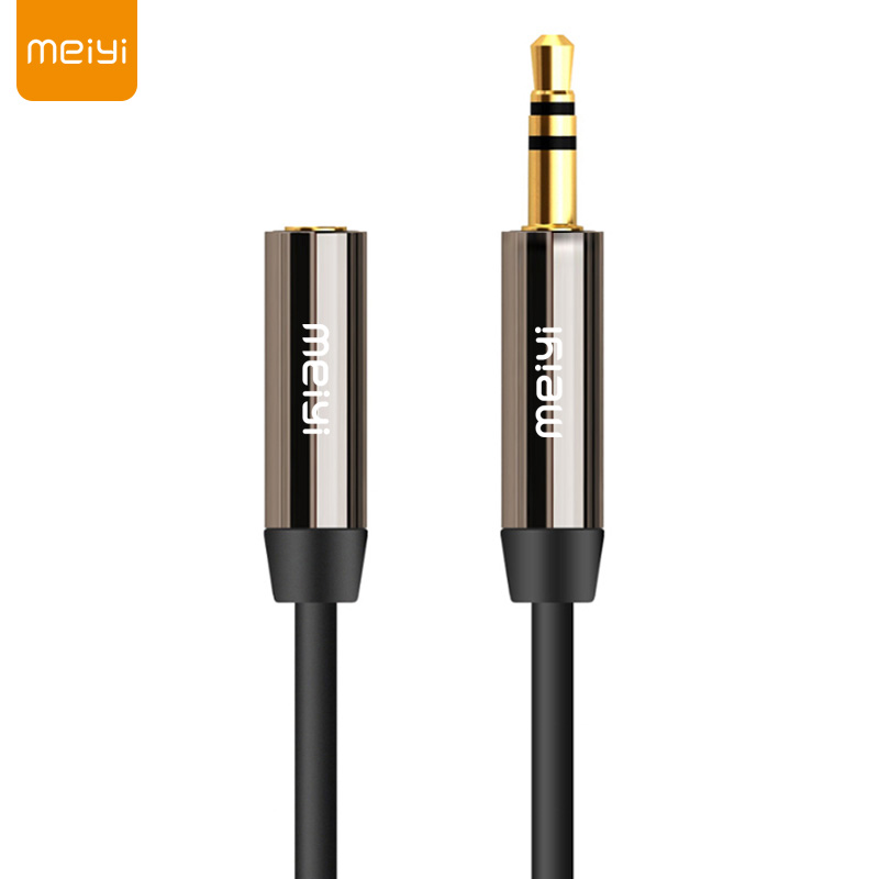 MEIYI 3.5 Mm Jack Aux Audio Cable Male To Female Aux Extension Cable Gold Plated Auxiliary Cable For Car / Phone / Media Players