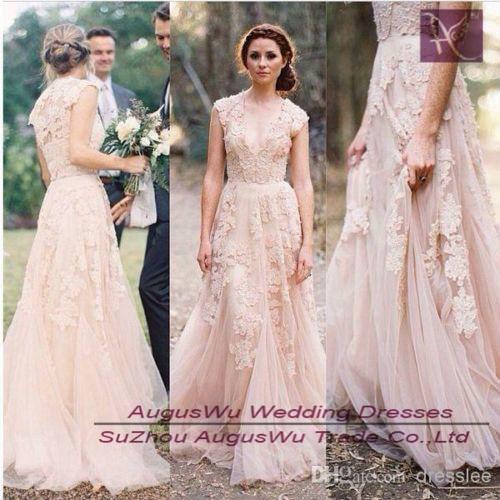 521c44ab790e8 WWL288 Vintage Lace Wedding Dresses Cap Sleeve Bridal Gowns Custom Size 2 4 6  8 10 12 14 16 18 20 22 24 26 28