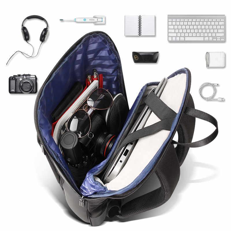 BOPAI Magro Homens Laptop Mochila Saco Mochila Homens de Negócios de Trabalho de Escritório de 15.6 polegada Preto Unisex Ultraleve Mochila Fina Back Pack