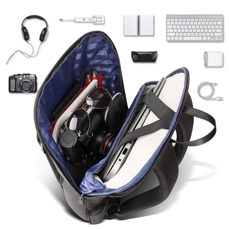 BOPAI Mince sac à dos pour ordinateur portable Hommes 15.6 pouces Bureau Travail Hommes Sac À Dos sac de travail Unisexe Noir Ultra-Léger Sac À Dos Mince sac à Dos - 4