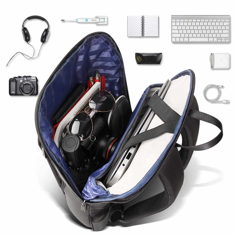 BOPAI Slim מחשב נייד תרמיל גברים 15.6 אינץ משרד נשים תרמיל עסקי תיק עמיד למים שחור תרמילי האולטרה דק בחזרה חבילה