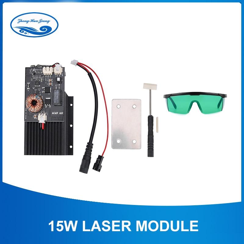 445-450nm Blue Laser Head 15W High Power Laser Engraving Laser Module DIY CNC Laser Engraver Machine Wood Router Cutting Part