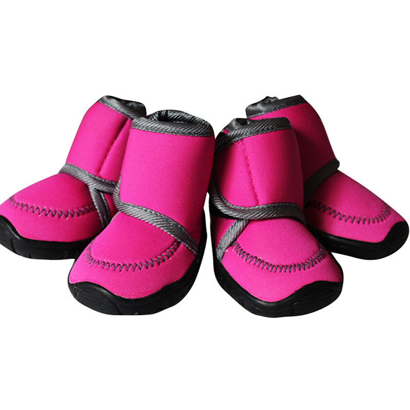 4Pcs/Set Waterproof Winter Pet Dog Shoes 7 SIZE Dog's Boots Cotton Non Slip XS XL  Puppy Shoes
