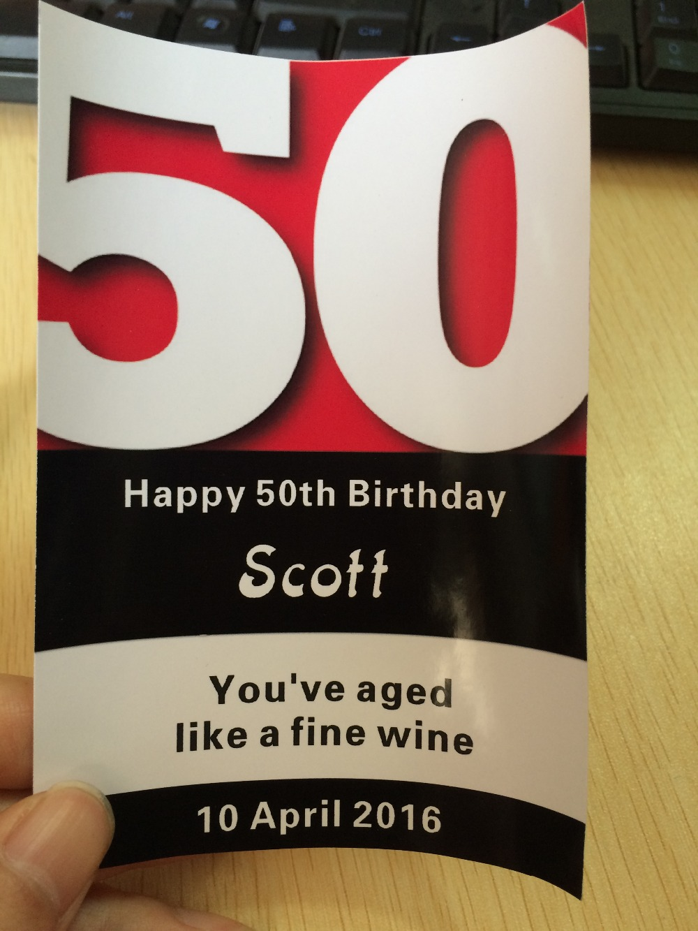 10 custom PERSONALISED 30th 40TH 50TH 60TH <font><b>70TH</b></font> 80TH <font><b>BIRTHDAY</b></font> WINE CHAMPAGNE BOTTLE LABEL image