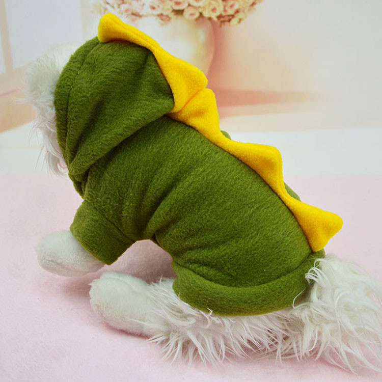 Novelty Pet Dog Hoodie For Small Dogs Clothes Winter Dinosaur Puppy Coat Clothing For Chihuahua Cat Costume XS S M L XL 1292