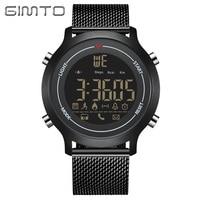 GIMTO Luxury Black Sport Smart Watch Waterproof Clock Digital Bluetooth Pedometer Calories Smartwatch LED Electronic Wrist