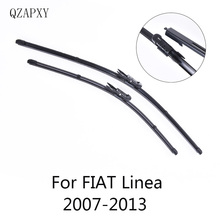 Щетки стеклоочистителя QZAPXY для Fiat Linea 2007 2008 2009 2010 2011 2012 2013 автомобильные аксессуары Стеклоочистители
