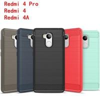 Fundas Xiaomi Redmi 4 Pro Case Silicon Xiaomi Redmi 4 Cover Soft Mobile Phone Cases Carbon