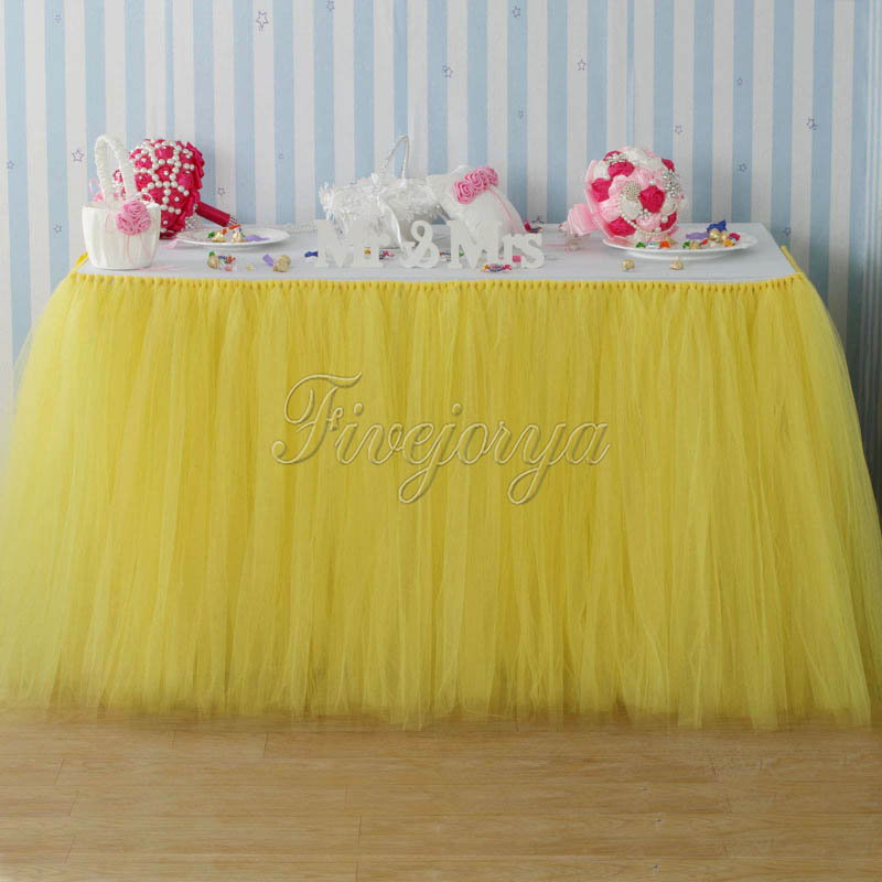 Yellow Tulle Tutu Table Skirt 100cm X 80cm Tulle Tutu